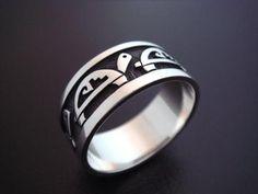Silver ring made by Hopi silversmith Alvin Taylor, Shongopavi village (Hopi Reservation, Arizona)