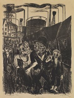 Conrad Felixmüller Im Kohlerevier (Heimkehr der Kohlenarbeiter), 1920.