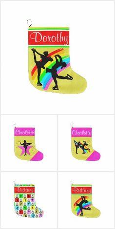 FIGURE SKATING STOCKING Awesome personalized Figure Skating Christmas stockings! http://www.zazzle.com/collections/figure_skating_stocking-119334596208658211?rf=238246180177746410 #figureskating #Figureskater #Figureskatinggifts #BorntoSkate #Loveskating #Skaterstocking #Personalizedskater #SkaterChristmas