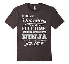 Pre K Teacher Job Title Shirt