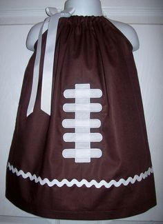 Hey, I found this really awesome Etsy listing at https://www.etsy.com/listing/95715512/football-game-day-pillowcase-dress
