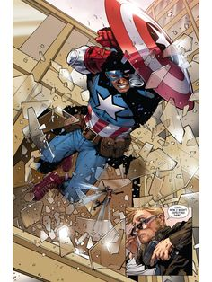 captain america in Collectible Comics Marvel Comic Character, Comic Book Characters, Comic Book Heroes, Marvel Characters, Comic Books Art, Comic Art, Arte Dc Comics, Marvel Comics Art, Marvel Heroes
