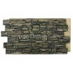 Alpi Faux Stone Panels Noir 24 x 48 Faux Panels, Faux Stone Panels, Fake Stone, Brick And Stone, Stone Work, Decorating Blogs, Interior Decorating, Stacked Stone Panels, Stone Veneer Panels