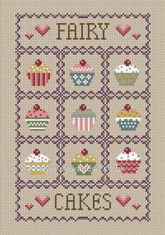 Buy Fairy Cakes Cross Stitch Kit online at sewandso.co.uk