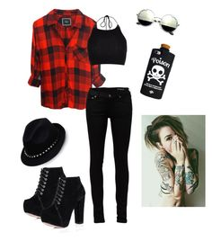 """""""Me in college"""" by iamfearless156 on Polyvore featuring Rails, River Island, Yves Saint Laurent and Valentino"""