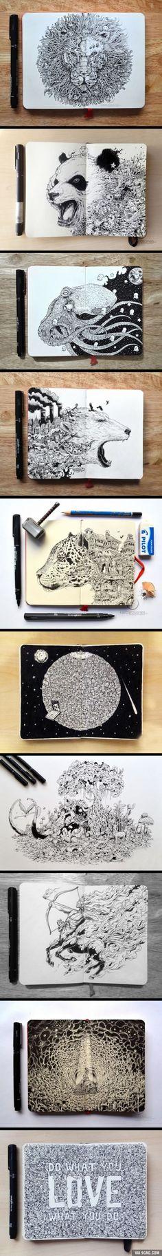 Hyperdetailed Drawings