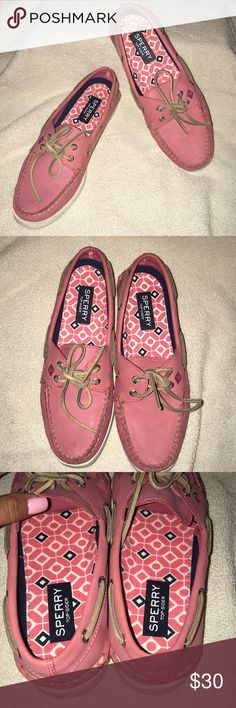 Pink Sperry Topsiders size 8 EUC Great condition! Worn twice Sperry Top-Sider Shoes Flats & Loafers