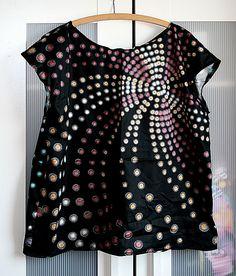 Punktespiralen-Shirt
