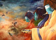 Hummingbird Medicine: What Hummingbird Can Teach Us Native American Totem, Native American Artists, Native American Indians, Native Americans, Navajo People, Indian Paintings, Indian Artwork, Neon Genesis Evangelion, Native Art