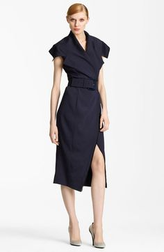 Donna Karan New York Crepe Trench Dress in Blue (ink) - Lyst