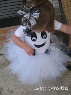 The simplicity of this ghost costume makes it idea for babies and toddlers. But look out for the all the white -- packing a white bib or two might not be a bad idea. Buy this from SageWreaths on Etsy or make it yourself.