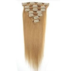 20 clip in on human hair extension by sundance 120 grams color 15 7pcs clip in hair remy human hair extensions 27 dark blonde by pmusecretfo Image collections