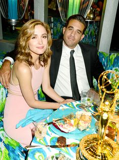 Newly blonde actress Rose Byrne celebrated her Boardwalk Empire beau Bobby Cannavale's Outstanding Supporting Actor in a Drama Series Emmy win at HBO's after party.