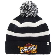Mens Cleveland Cavaliers  47 Brand Navy Blue Breakaway Knit Beanie 2b6d1af38bfd