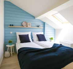 Blue Rooms, Room Decor, Decoration, Bed, Wall, Furniture, Home, Blue Bedrooms, Decor