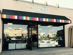 Colorful custom storefront awning by Superior Awning Inc. 🌈