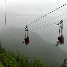 One of the world's longest zip-lines . the Icy Strait Point Zip-Rider, Hoonah, Alaska Alaska Travel, Alaska Cruise, Alaska Trip, Usa Travel, Hawaii Travel, Japan Travel, Oh The Places You'll Go, Places To Travel, Places To Visit