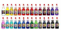 Professional Tattoo Supplies INK MADE IN THE USA over 20 Colors and Four Sizes Professional Tattoo, Tattoo Supplies, Hot Sauce Bottles, Ink, Random, Tattoos, Colors, How To Make, Tatuajes