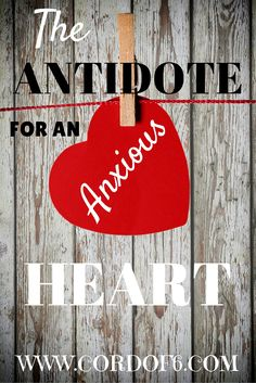 The Antidote for an Anxious Heart ~ Do you have an anxious heart? Have you ever woken up with a heavy heart? Sometimes I wake up and the thought of getting through the day feels like drudgery. I feel burdened and I don't even know why. This verse encouraged me and I knew I wanted to share it with you. [...]