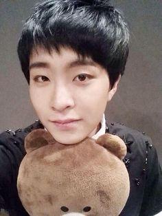 oppa youngjae the teddy is mian to!!!:( ompaaaaaaa!