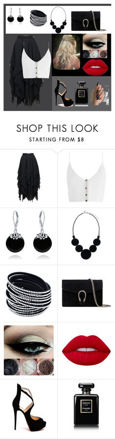 """Oceanpm"" by jeikarly-romero-carias on Polyvore featuring Loewe, Zimmermann, Bling Jewelry, Gucci, Lime Crime, Christian Louboutin y Chanel"