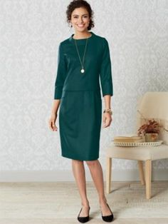 WORSTED WOOL FLANNEL JENNA DRESS by Pendleton