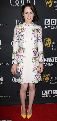 Michelle Dockery looked stunning at BAFTA tea party in Los Angeles.
