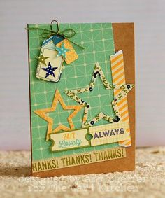 Thanks! Card by Amy Sheffer for the Card Kitchen Kit Club; December 2013 Card Kitchen Kit