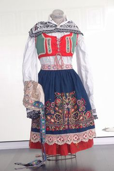Antique Vintage Czech Folk Dress Costume Moravia Kyjov Ethnic Eastern European