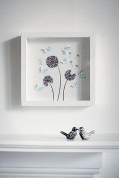 Beautiful handmade box frame picture with by HarveySmithDesigns 3d Box Frames, Box Frame Art, Shadow Box Frames, Diy Frame, Box Art, Picture Frame Crafts, Picture Boxes, Picture Frames, Crafts With Pictures
