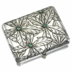 A Fabergé jewelled silver cigarette case, Moscow, 1899-1908 | Lot | Sotheby's