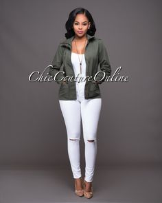 Chic Couture Online - Scotch Olive Green Military Jacket, $45.00 (http://www.chiccoutureonline.com/scotch-olive-green-military-jacket/)