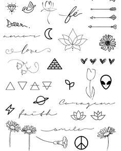 Tattoos And Body Art tattoo designs pictures Mini Tattoos, Cute Small Tattoos, Little Tattoos, Small Tattoo Designs, Trendy Tattoos, Cute Tattoos, Body Art Tattoos, New Tattoos, Tattoo Small