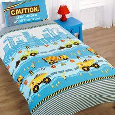Construction bedding - boys transport, yellow diggers