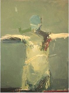 """Figure with Blue Face #2 . 60 x 45"""" . oil on canvas . 2003. Harry Ally"""