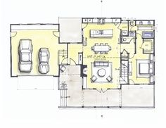 Mountain house floor plan main level....  Look out and face the view
