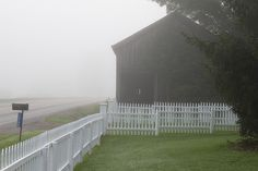 misty road and barn place - photo:Amy Merrick