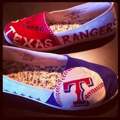 Painted Texas Ranger shoes.