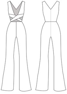 Jumpsuit sleeveless, women jumpsuit pattern, cut-off jumpsuit – pants hanger ideas Dress Design Sketches, Fashion Design Sketchbook, Fashion Design Drawings, Fashion Sketches, Dress Designs, Fashion Drawing Dresses, Fashion Illustration Dresses, Dress Drawing, Drawing Clothes