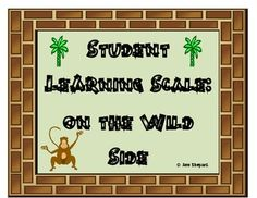 Are you Wild about Learning or Teaching?Freebie for Grades This learning scale has a wild/jungle/safari type theme. Students rate their understanding(using a scale) of what you ar. Student Self Assessment, Assessment For Learning, Student Data, Learning Goals, Rainforest Classroom, Jungle Theme Classroom, Classroom Themes, Classroom Organization, 2nd Grade Activities