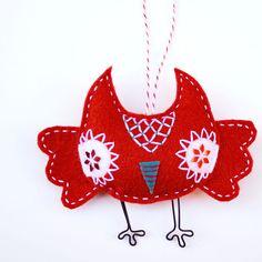 Christmas owl ornament