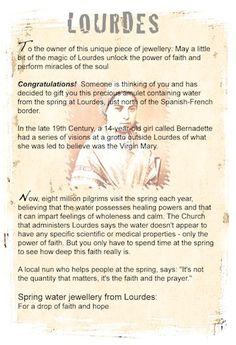 Lourdes jewellery info