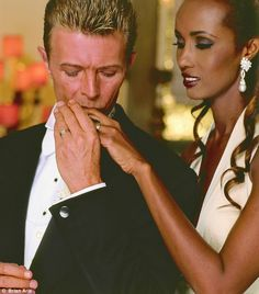 Oh you pretty things: 'David Bowie and Iman's wedding in Florence in 1992 was remarkable. This shot manages to capture the extraordinary tenderness they showed to one another. They were a fantastic couple. The cathedral was filled with guests including Yoko Ono and Bono. Bowie had forbidden all other photographers from taking pictures so the roadie and I put blackout curtains across the front of the cathedral.'