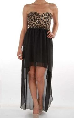 Love this Leopard Print Dress! i think sonething like this will be our bridesmaids dresses!!