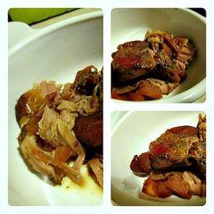Crockpot Apple Pork Tenderloin  You could sub cinnamon for the nutmeg if avoiding seed based spices