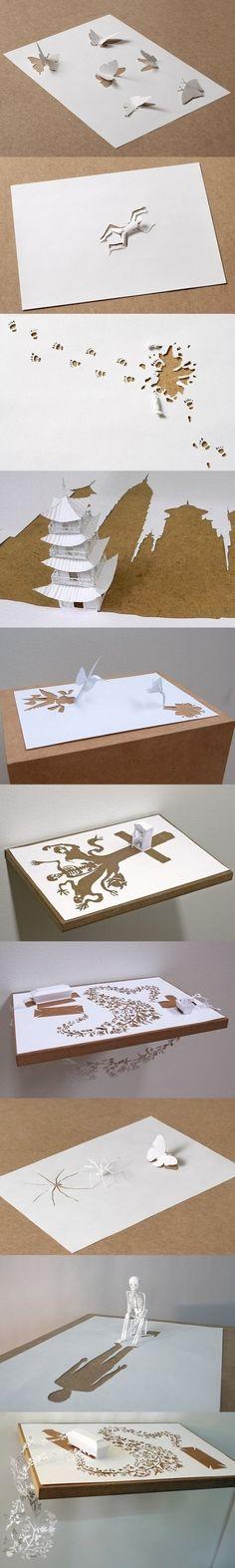 amazing intricate cut paper art