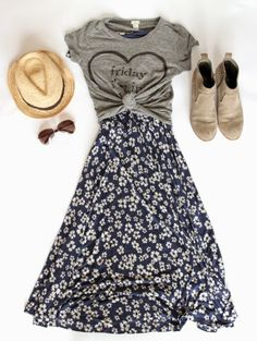 Love the informality and comfort of this outfit. The mix of t-shirt over dress... winner. A Spring Dress: Outfit 3 // With An IE @Boden