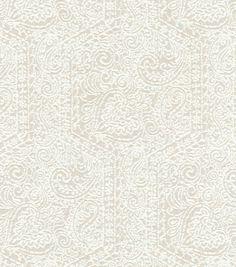 Upholstery Fabric-  Williamsburg Goa Garden Alabaster