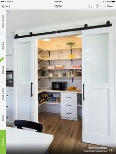 Maybe a big pantry with double doors and counter space for appliances would be better than a corner pantry?
