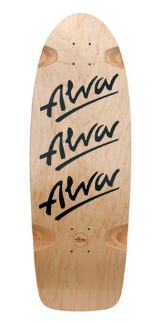 "When the TRI-LOGO was released in 1979 it was an instant classic. This is an authentic re-Issue, with correct dimensions and shape right down to the barrel style wheel wells.   10"" x 30"" W/ 16"" WB  7 Ply Hard Rock Maple  Single Kick  Iconic Alva Die-Cut Grip  Rod's Christmas present 2009.  Signed by Tony Alva. Rod still has the original issue board from 1979."